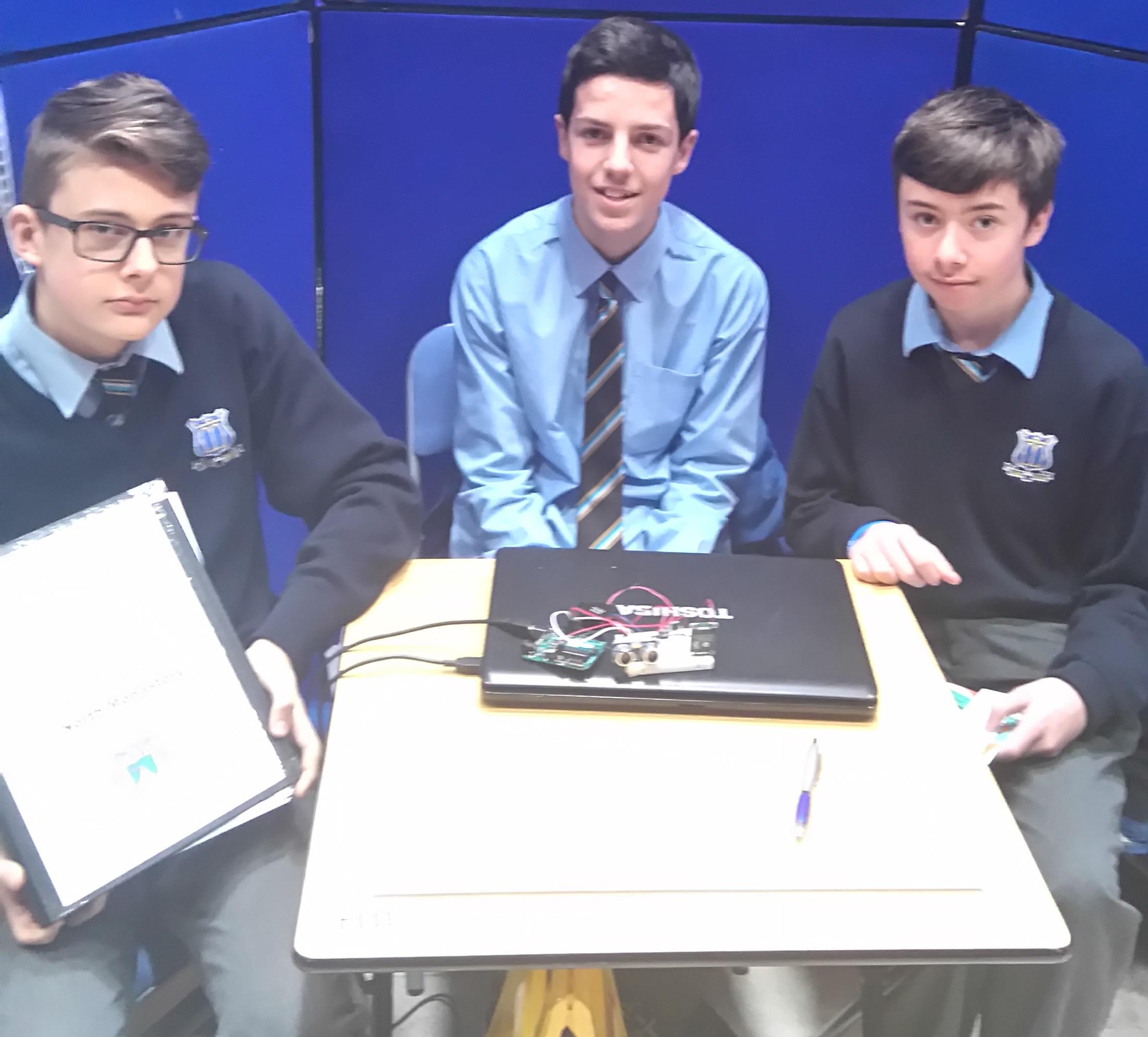 SciFest 2016 Kacper Zelechowski, Liam Donovan, Kyle Daly
