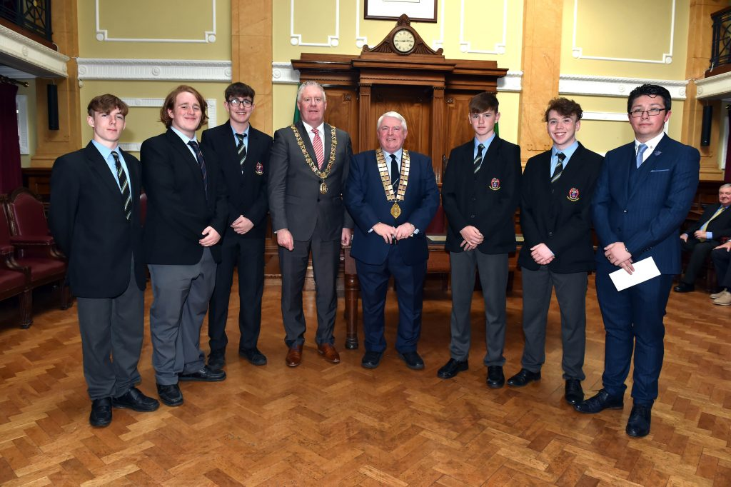 MON Boys with Lord Mayor Cllr Mick Finn - Fri 17th May 2019
